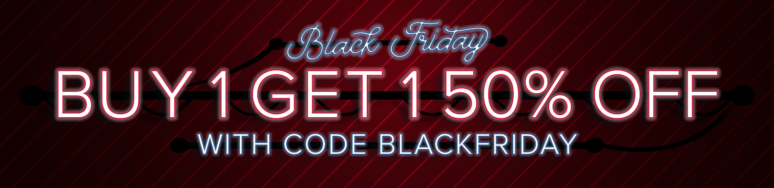 Black Friday: Buy one get one 50% off