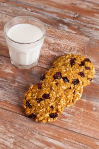oatmeal and cranberry protein cookie